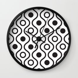 Lines and circles background. Wall Clock