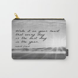 Write It On Your Heart Robert Frost Carry-All Pouch