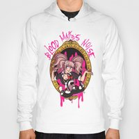 dangan ronpa Hoodies featuring Blood Makes Noise by AMC Art