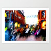 Grafton Street Blur Art Print