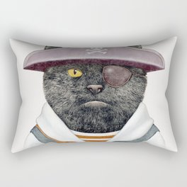 Pirate Cat Rectangular Pillow