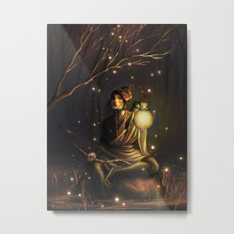 The Watcher of the Night Metal Print