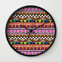 aztec Wall Clocks featuring AZTEC by Acus