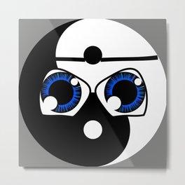 geeky yin yang Metal Print