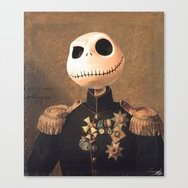 Jack Skellington General Portrait Painting | Fan Art Canvas Print