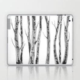 Birch Trees | Indian Ink Illustration | Canadian Art Laptop & iPad Skin