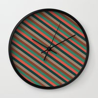 preppy Wall Clocks featuring Preppy by Farnell
