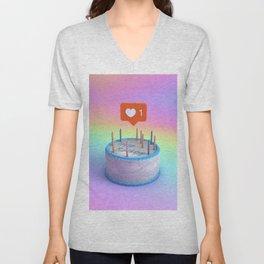 Happy Birthday Cake Unisex V-Neck