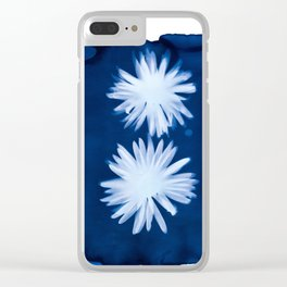 Poppies I - Cyanotype Clear iPhone Case