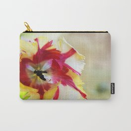 Colourful painterly Parrot tulip  Carry-All Pouch