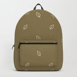 Simple green forest leaf gender neutral baby. Whimsical minimal earthy 2 tone color. Kids nursery wallpaper or boho woodland nature fashion. Backpack