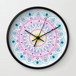 Clear Mandala Wall Clock