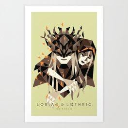 Lorian & Lothric Art Print