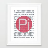 pi Framed Art Prints featuring Pi by sonsofwolves