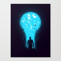 bright Canvas Prints featuring Bright Side by nicebleed