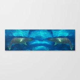 Mirror whales Canvas Print