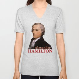 Alexander Hamilton, Triangulated Unisex V-Neck