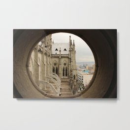 Lost in a Gotic cathedral Metal Print
