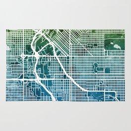 Denver Colorado Street Map Rug