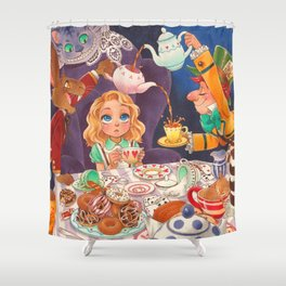 The Mad Tea Party Shower Curtain