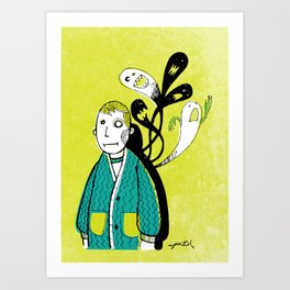 Everybody Has a Ghost or Two Art Print