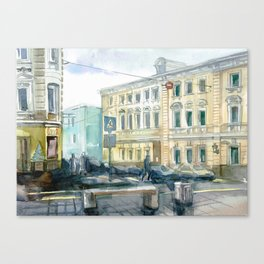 Watercolor Moscow Canvas Print
