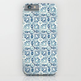 Azulejo IV - Portuguese hand painted tiles iPhone Case