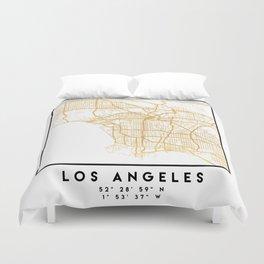 LOS ANGELES CALIFORNIA CITY STREET MAP ART Duvet Cover