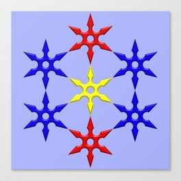 Shuriken Design Canvas Print
