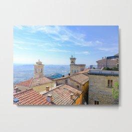 View Over San Marino Metal Print