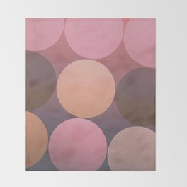 Pink Shadows Moon Throw Blanket