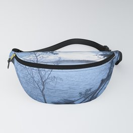 Frosty lake view Fanny Pack