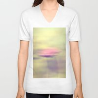 pastel V-neck T-shirts featuring Pastel by Fine2art