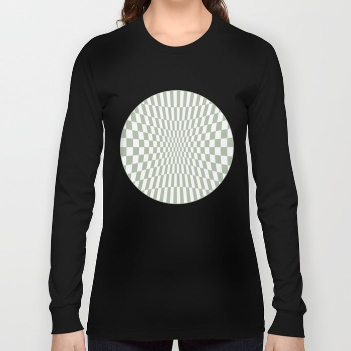 Optical Game Mint Green Long Sleeve T-shirt
