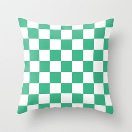 Checker (Mint/White) Throw Pillow