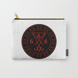 666- the number of the beast with the sigil of Lucifer symbol Carry-All Pouch
