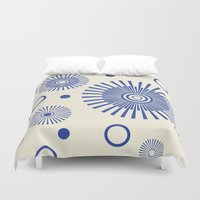 fireworks Duvet Covers featuring Fireworks by Amy Newhouse