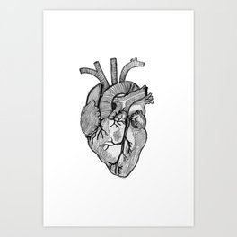 Croquis de cœur Art Print