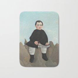 Henri Rousseau, Boy on the Rocks, 1895 Bath Mat