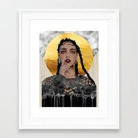 fka twigs Framed Art Prints featuring FKA Twigs by Sara Eshak
