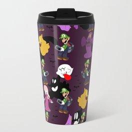 Luigi's Mansion Pattern Travel Mug