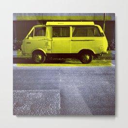 Yellow Van Metal Print