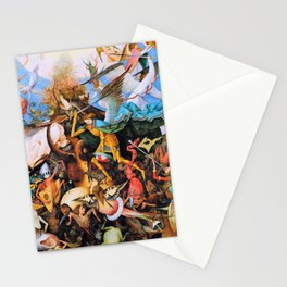 Pieter Bruegel - The Fall Of The Rebel Angels - Digital Remastered Edition Stationery Cards