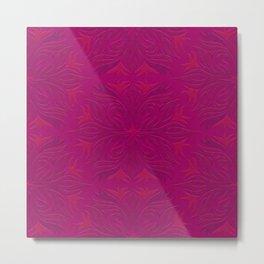 Magenta & Pink Flaming Flower Metal Print
