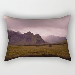 Midnight In Iceland Rectangular Pillow