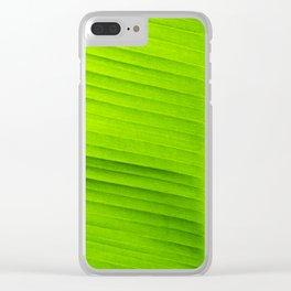banana tree leaf Clear iPhone Case