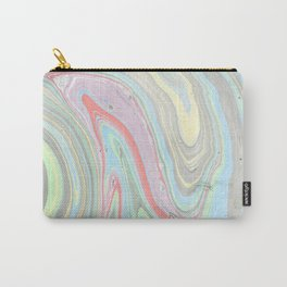 Pink coral mint green aqua watercolor abstract marble pattern Carry-All Pouch