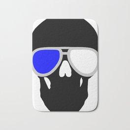3D Skull - sunglasses Bath Mat