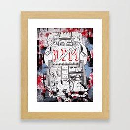 Schizophrenic society Framed Art Print