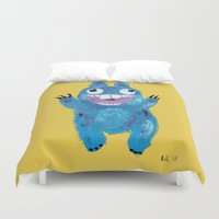 kevin russ Duvet Covers featuring Kevin by Kristina Joy Collins